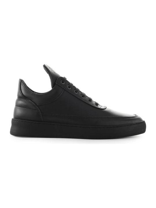 Filling Pieces Black Matt Nappa Leather Sneaker