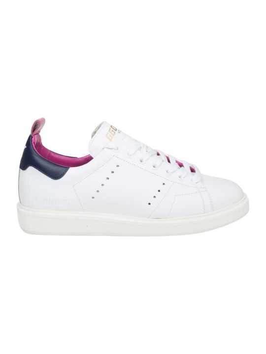 Golden Goose Starter Sneakers In White Leather