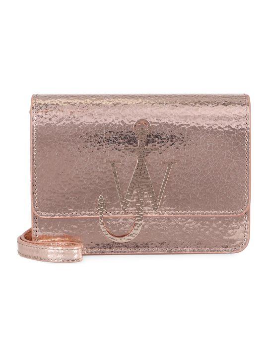 J.W. Anderson Anchor Logo Metallic Leather Shoulder Bag
