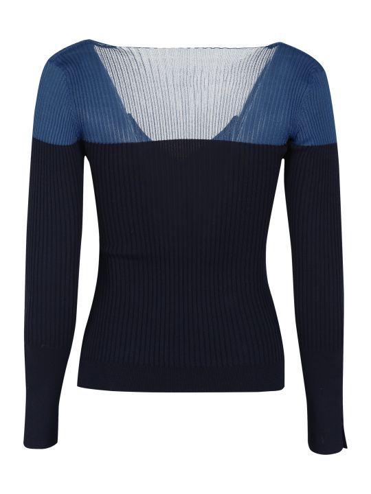 Jacquemus Asymmetric Color Block Cardigan