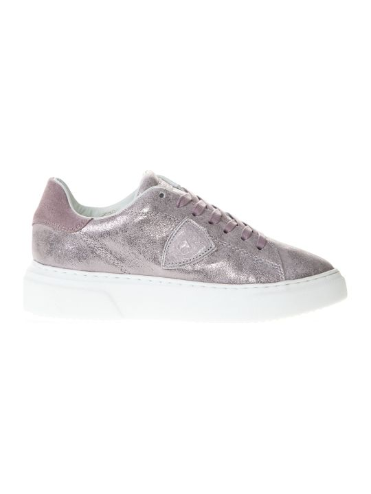 Philippe Model Pink Leather Sneaker