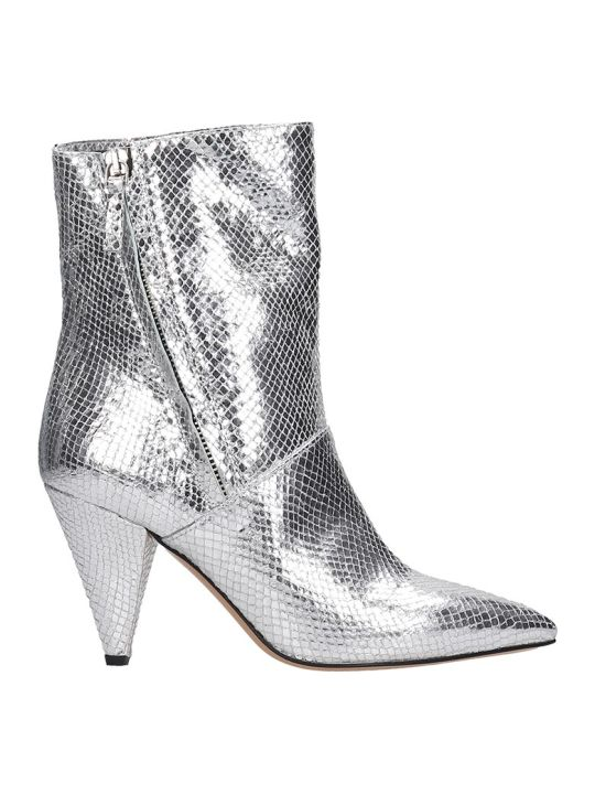 The Seller Ankle Boots In Silver Leather