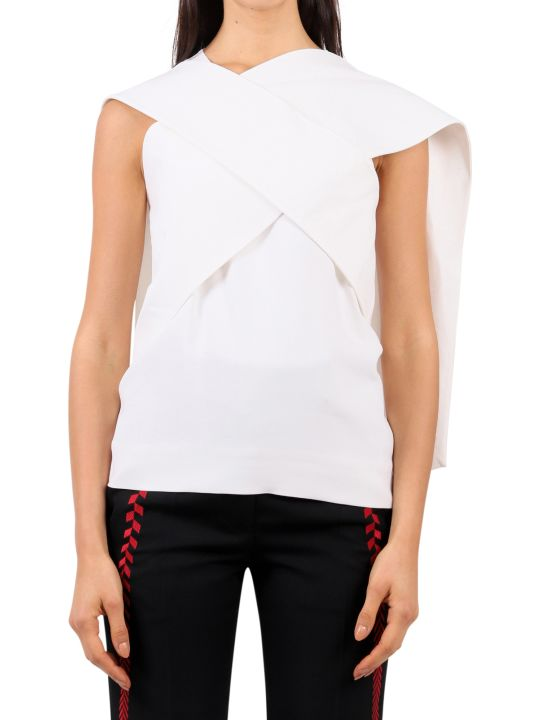 Haider Ackermann White Drape Top