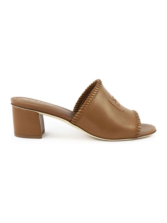 Tod's Sandals In Brown Leather