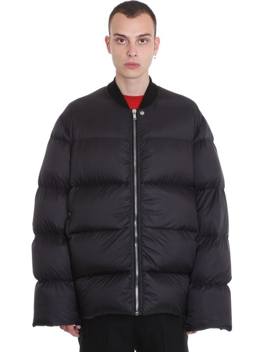 Rick Owens Flight Jkt Clothing In Black Polyamide