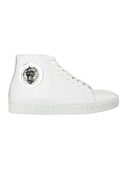 Versus Versace  Shoes High Top Leather Trainers Sneakers Lion Head
