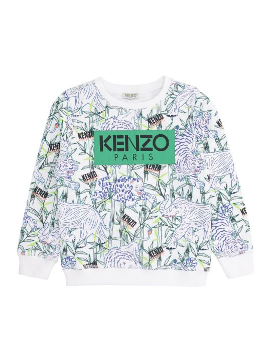 Kenzo Kids Jake Printed Cotton Hoodie