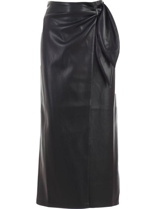 Nanushka Skirt A Line Leather W/knot