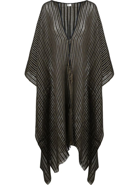Saint Laurent Fringed Striped Poncho