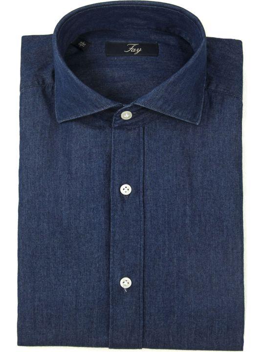 Fay Dark Denim Shirt
