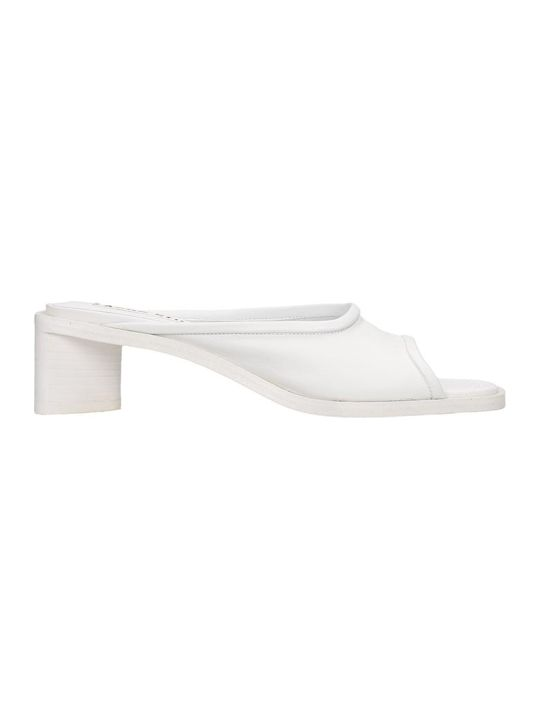 Acne Studios Bessy Sandals In White Leather