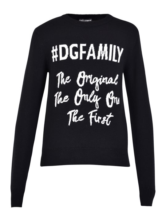 Dolce & Gabbana Embroidered Virgin Wool Sweater