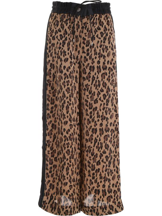 Sacai Leopard Print Trousers
