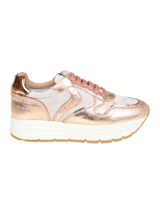 """Voile Blanche """"may"""" Sneakers In Leather And Fabric Color Pink"""