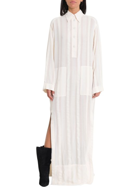 Philosophy di Lorenzo Serafini Long Dress With Shirt Collar And Slits