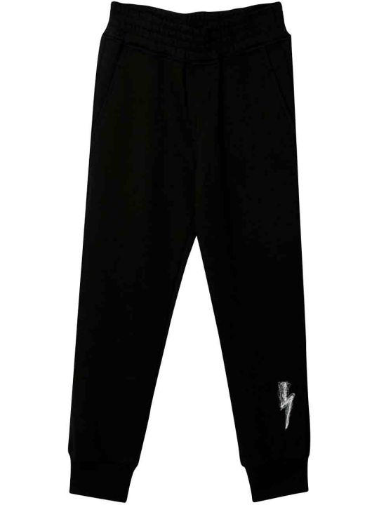 Neil Barrett Black Jogging Pants Teen