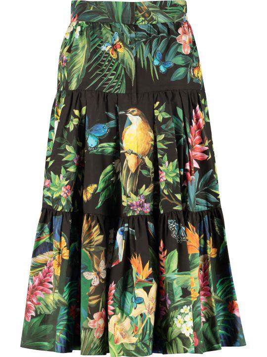 Dolce & Gabbana Printed Midi Skirt