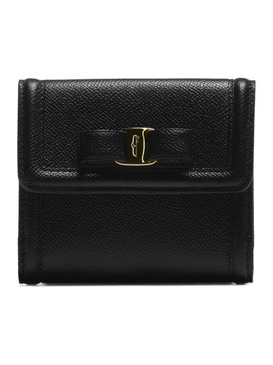 Salvatore Ferragamo Vera Bow French Wallet