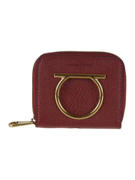 Salvatore Ferragamo Logo Detail Zip-around Wallet