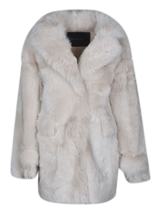 Blancha Fur Applique Coat