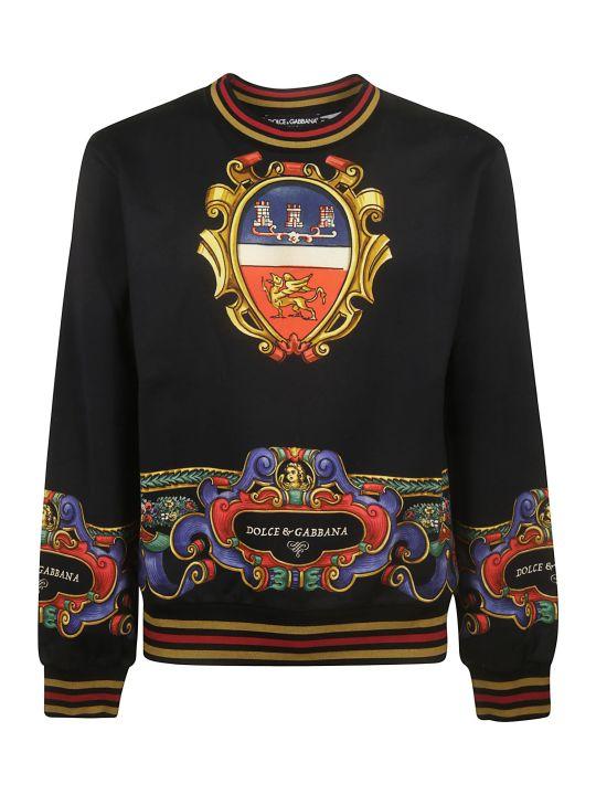 Dolce & Gabbana Trimmed Logo Sweatshirt