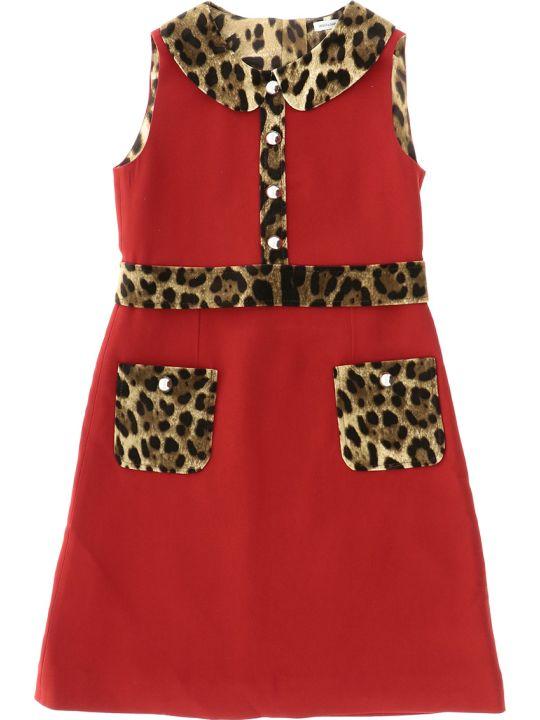 Dolce & Gabbana Abito Rosso Brillante
