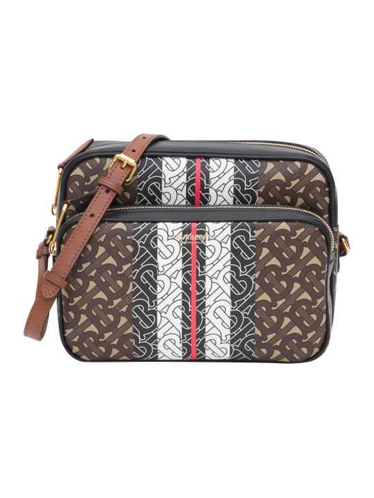 Burberry Medium Monogram Stripe E-canvas Camera Bag