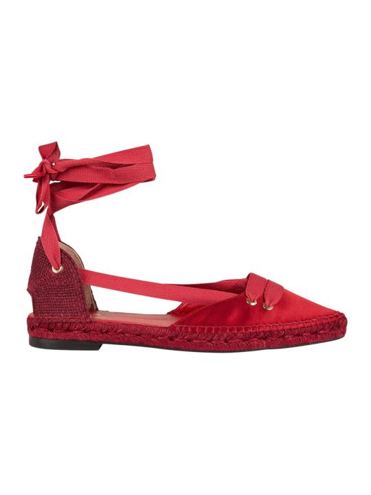 Castañer by Manolo Blahnik Castaner Medium Flat Satin Beribboned Espadrillas