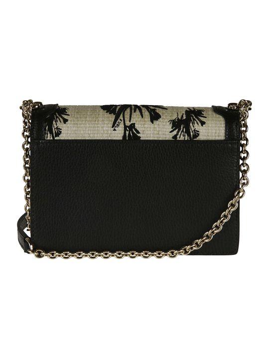 Furla Woven Flap Chain Shoulder Bag