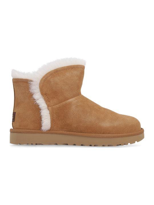 UGG Classic Mini Fluff Ankle Boots