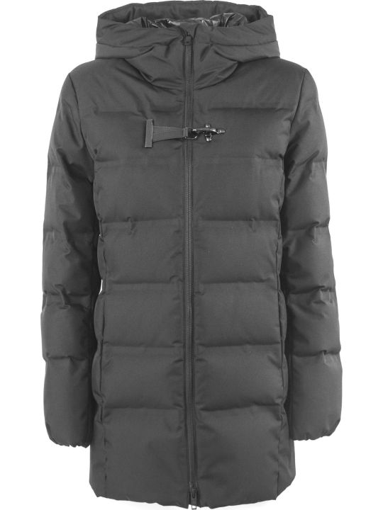 Fay Black Technical Fabric Down Jacket