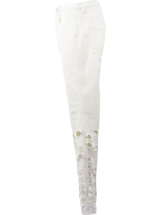 Maison Margiela White Cotton Jeans