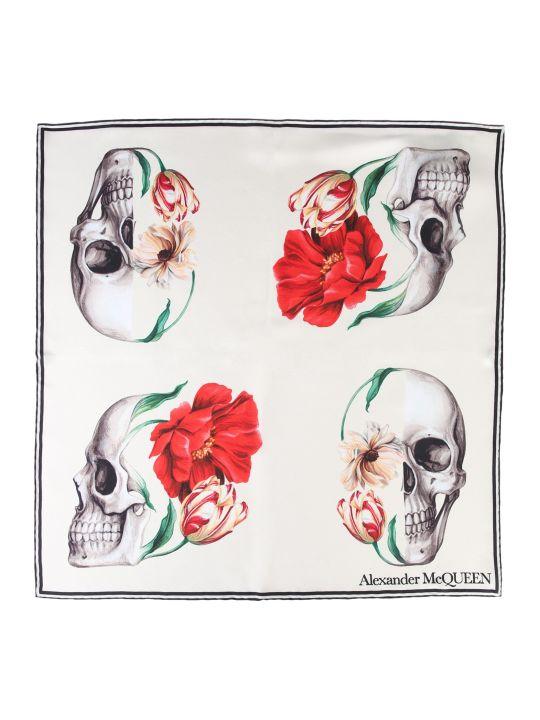 Alexander McQueen Skull Bloom Foulard
