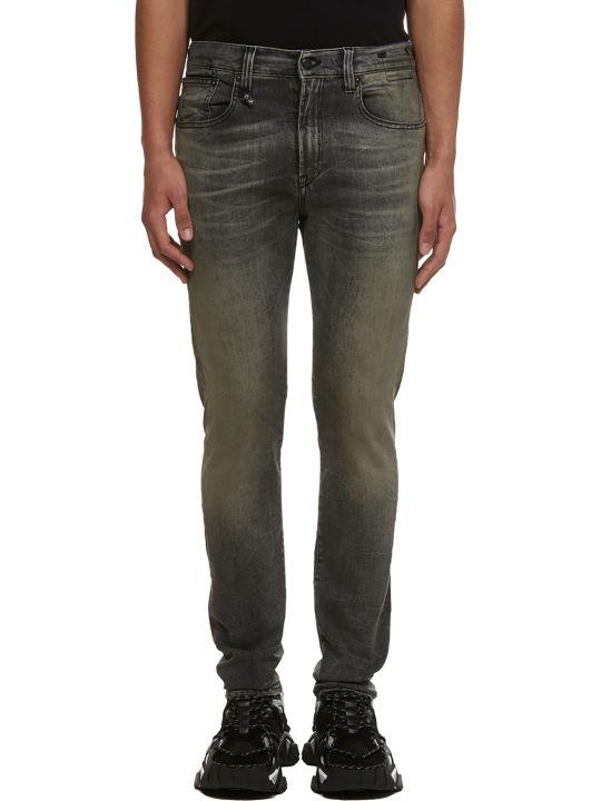 R13 Stonewashed Slim Fit Jeans