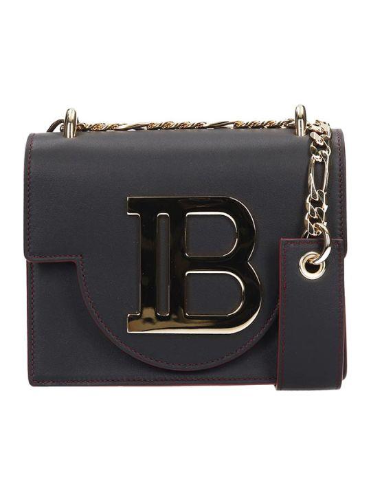 Balmain B-bag 18 Black Leather Logo Bag