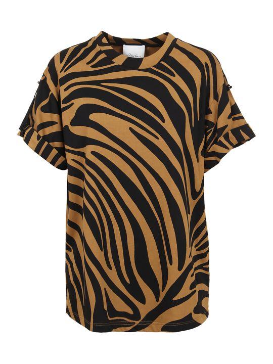 3.1 Phillip Lim Ss Printed Zebra Tshirt