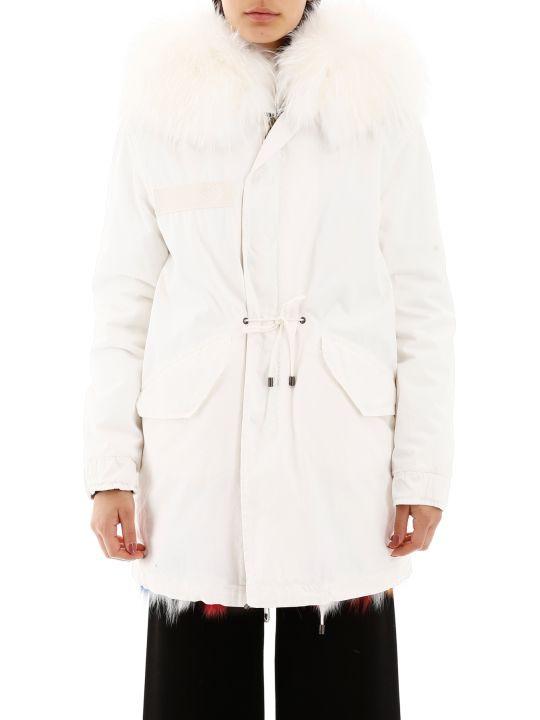 Mr & Mrs Italy Jazzy Midi Parka With Fur