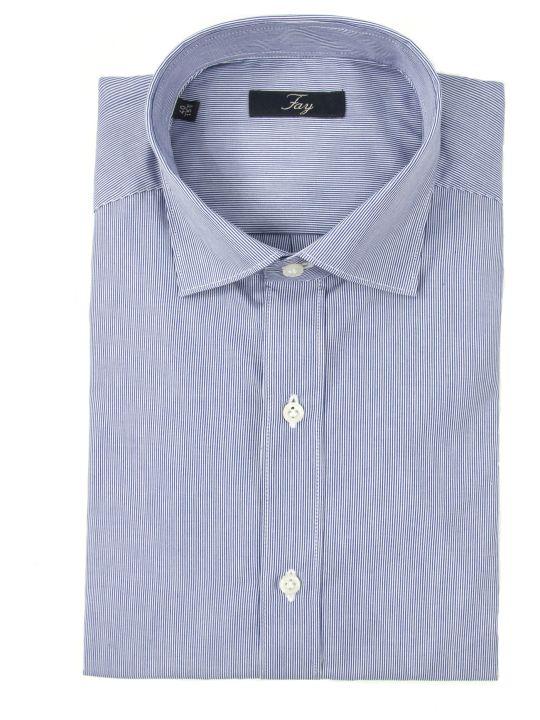 Fay Blue Stripes Cotton Shirt