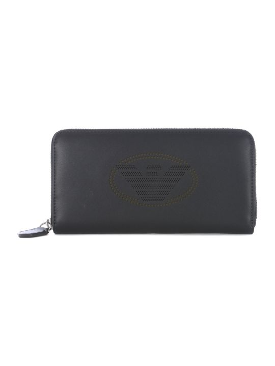 Emporio Armani Logo Zip Around Wallet