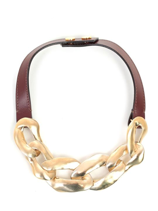 Marni Necklace Metal And Leather