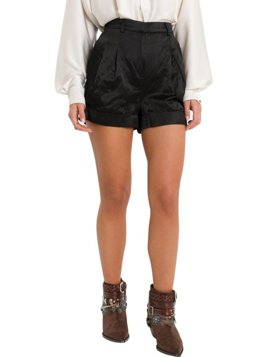 Philosophy di Lorenzo Serafini Satin Shorts With Pinces