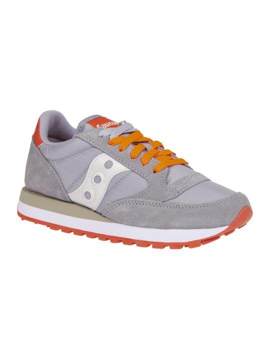 Saucony Grey And Orange Jazz Original Sneakers