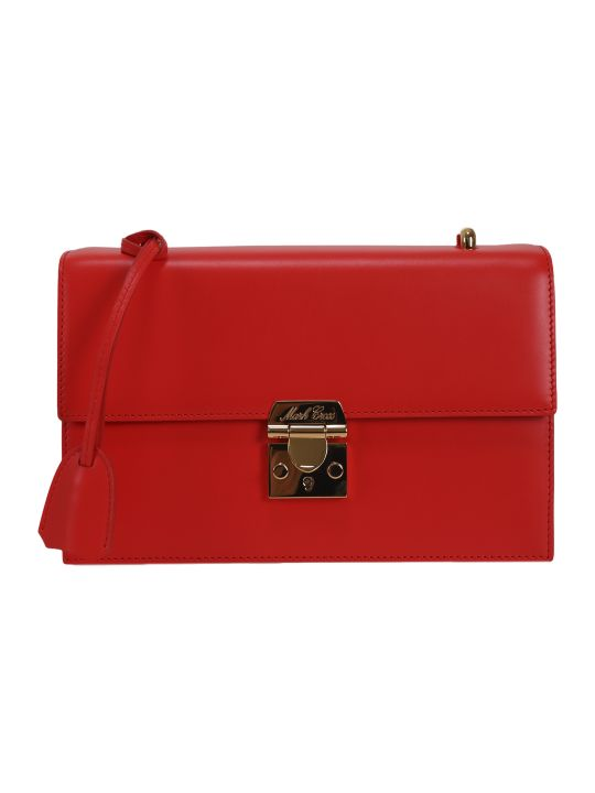Mark Cross Red Downtown Bag