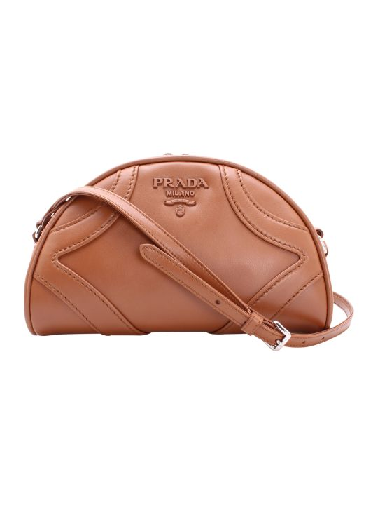 Prada Bowling Leather Shoulder Bag