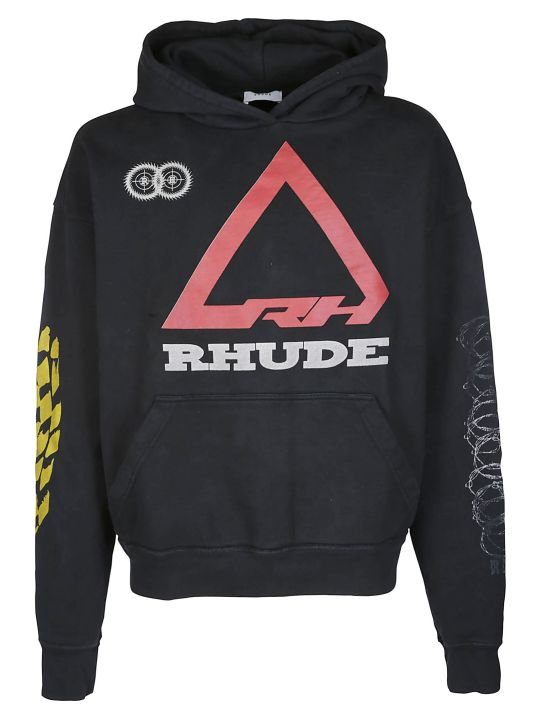 Rhude Black Cotton Rhonda 2 Sweatshirt