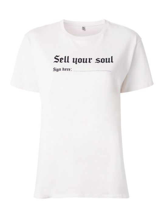 R13 Sell Your Soul Crew-neck T-shirt