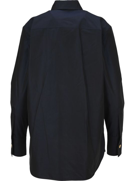 Givenchy Changing Poplin Shirt With 4g Buttons
