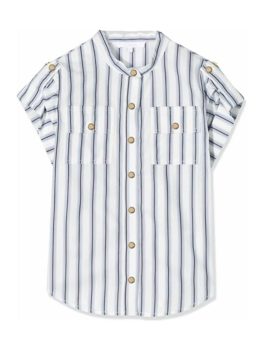 Chloé White And Blue Cotton Shirt