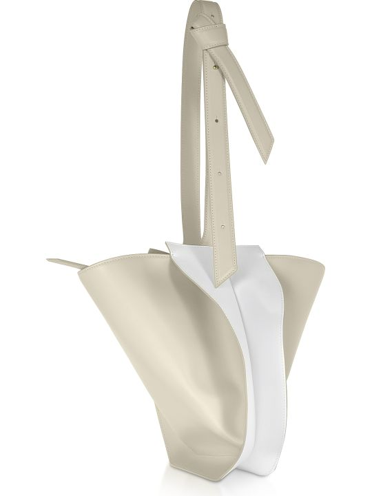 Giaquinto Bloom Mini Egret White Shoulder Bag