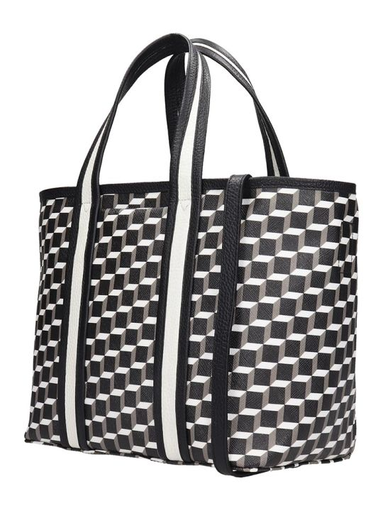 Pierre Hardy Mini Archi Tote Tote In Black Canvas